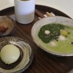 キノシタ - 料理写真:抹茶ぜんざい、ほうじ茶じゃらーと付き@780