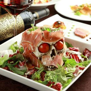 ドラキュラの晩餐をイメージしたコンセプト料理♪