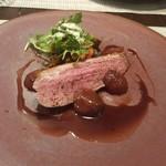 ラ ジータ - 北海道滝川産合鴨フィレ肉のロースト(1皿を2人でわけたときの1人分)