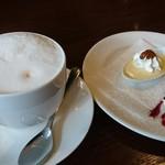 ビストロ椿 - カフェラテとハッピーパス12月号で無料のミニドルチェ