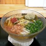 手打うどん長谷川 - 梅昆布うどん(830円)