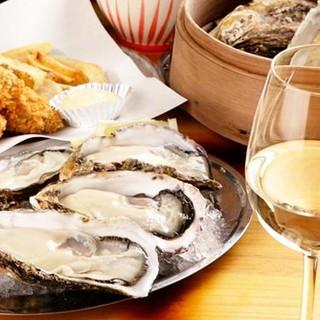 牡蠣とワインのマリアージュ♡
