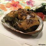 オステリア T - 鮑の海胆焼き