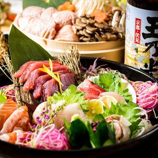 鮮度抜群!!自慢の地鶏や鮮魚を愉しむ宴会プラン2500円~♪