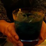 お座敷BAR 籠 - マリーンブルーフィズ(ノンアル)!加賀百万石の石原さとみ手添えバージョン!!