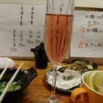 牡蠣とシャンパン 牡蠣ベロ - ロゼ