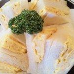 いずみ - 厚焼き玉子で作る玉子サンド。パンがふわふわです。