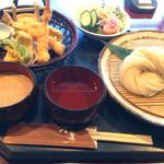 ダイニング万葉 - 稲庭うどん、天ぷら付き