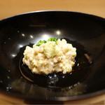 鮨 とかみ - 2016/11昼_(先付)蕎麦がき