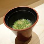 鮨 とかみ - 2016/11昼_魚のアラで出汁を取った味噌汁