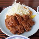 味処いちむら - 料理写真:牛カツ定食(1200円)の牛カツ