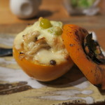 ふわり - 柿に入ったチーズ焼き