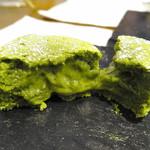 トラットリア ソメヤ - 「コース仕立て(1.000円)」のデザート:抹茶フォンダンショコラ