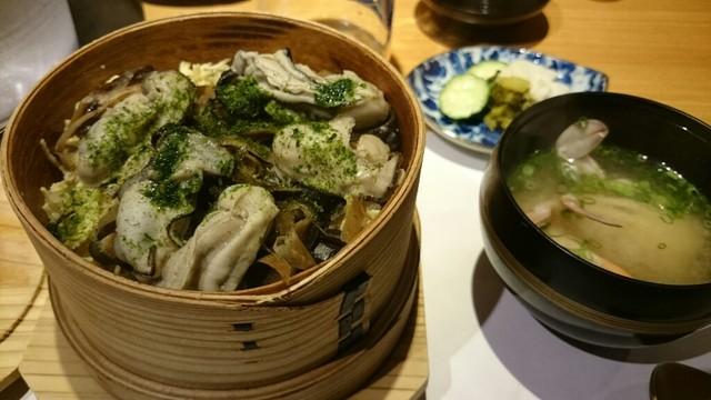 お料理なかき - 牡蠣のわっぱめし