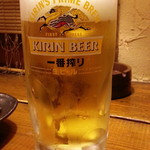 茅ヶ崎 海ぶね - 生ビールは一番搾り通常500円