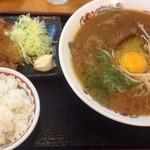 59588014 - 2016.11 徳島ラーメン(大)バラ肉&からあげセット