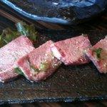 創作焼肉 神戸 牛乃匠 - 上タン 厚切り 1900円