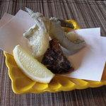 手料理 きくち - 鯊の天ぷら松茸天ぷら。