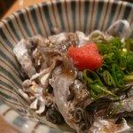 すし処 - 鯛の皮湯引きポン酢