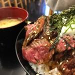 ドンブリ アサダ - ステーキ丼 (並)