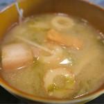 琉球食堂kafu - 味噌汁は、具が多いです