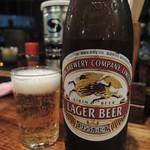 肥後橋ラーメン亭 - 瓶ビールは中瓶
