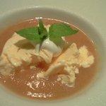 5960315 - 桃のスープとアイス