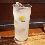とりいち - ゆず酒ソーダ割り(550円)