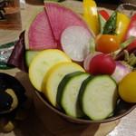 59604998 - 三浦の畑から来た野菜スティック・オリジナルバーニャカウダ