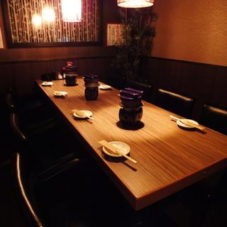 嬉しい宴会個室!ゆったりくつろぎの空間が大人気!