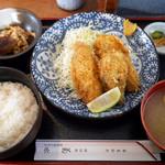 菊水 - 火水限定 カキフライ定食 ¥980