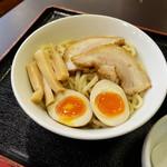 鶏白湯ラーメン 夏樹 - 火鍋鶏濃厚つけ麺SP(950円)のもちもち麺