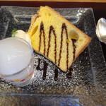 豆腐かふぇ 浦島 - 豆乳の白カンテン、豆乳のシフォン