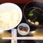 豆腐かふぇ 浦島 - 御飯、お吸い物