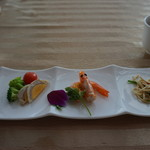 全聚徳 - [料理] 前菜 3種 全景♪w