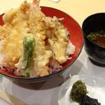 きたむら - ミックス天丼(1,296円)