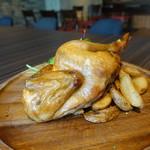 59625898 - ☆国産ハーブ鶏の丸ごとローストチキンハーフ(●^o^●)☆
