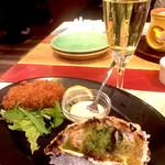 59628287 - 焼き牡蠣と牡蠣フライ(^-^)