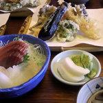 中居屋 - 天ぷら&刺身(重兵衛定食)