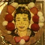 patisserie Splendide - オーダーの似顔絵ケーキ