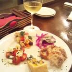 ピッコロジャルディーノ - ある日の前菜盛り合わせ