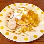 T's cafe-note - パインとレモンのパンケーキ! 甘さと酸味、ほろ苦さがベストマッチ