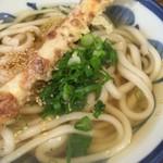 ゆず屋製麺所 - かけうどん(温)(ちくわ天サービス)(アップ)