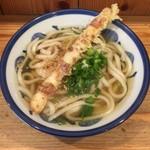 ゆず屋製麺所 - かけうどん(温)(ちくわ天サービス)