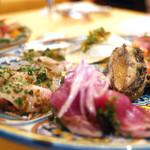 トラットリア ケ パッキア - 魚介の前菜盛り合わせ