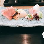 59651591 - 黄ハタ、メジマグロ、蛸梅肉、帆立 2016年12月