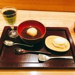 日本料理 太月 - 粟ぜんざい、抹茶プリン、クリームチーズアイス2016年12月