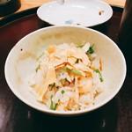日本料理 太月 - 鮭ハラスと芹のごはん 2016年12月