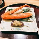日本料理 太月 - 松葉蟹 浜茹で カニ酢2016年12月