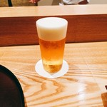 日本料理 太月 - 生ビール小 2016年12月